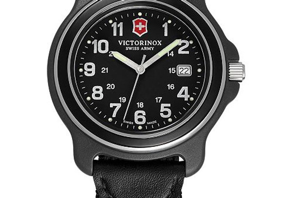 Victorinox Swiss Army Original XL Black Dial Bezel Nylon Strap Watch 249087
