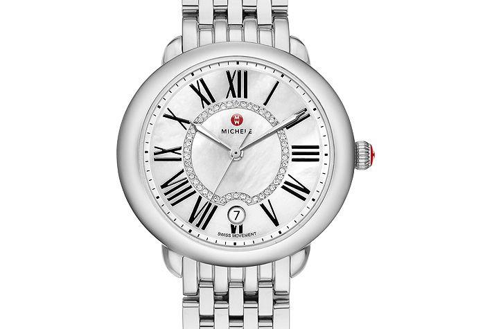 Michele Serein Mid Stainless Steel Diamond Dial Watch MW21B00A0963