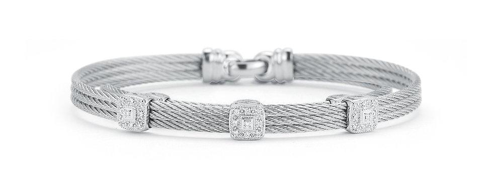 Grey Cable Classic Stackable Bracelet Ref. 04-32-S834-11