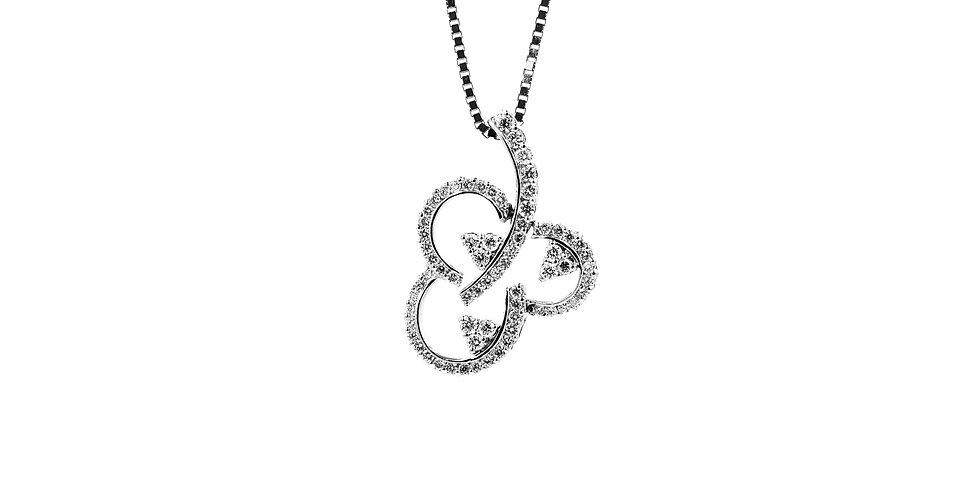 Classic White Gold Diamond Clover Necklace