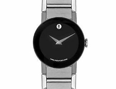 Movado Sapphire Stainless Steel Ladies Watch 0605064