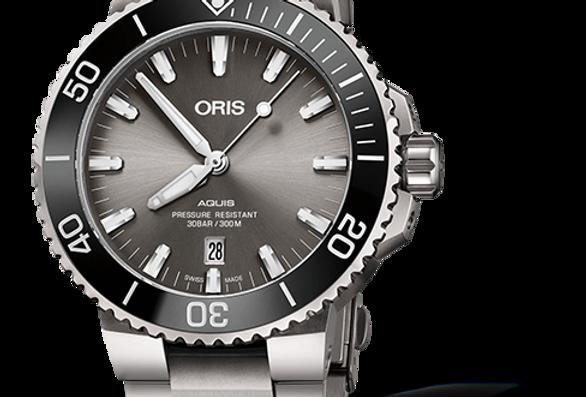 ORIS Aquis Titanium Date Men's Watch 01 733 7730 7153-07 8 24 15PEB