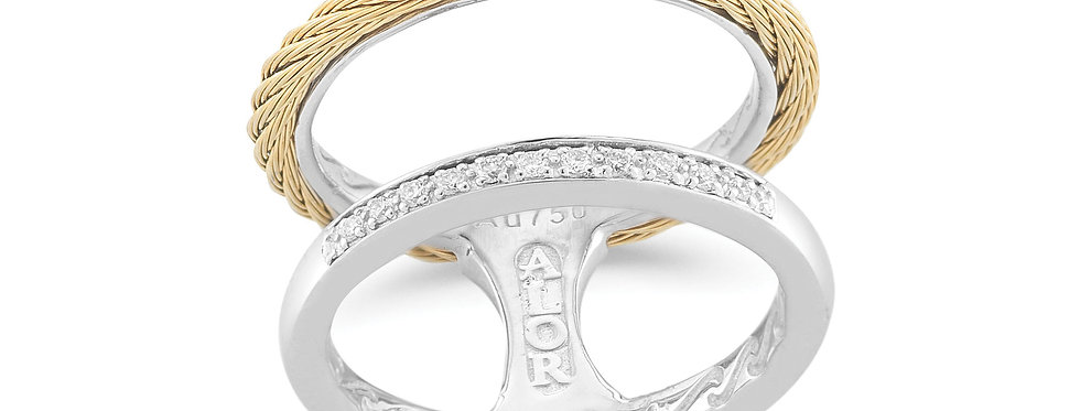 Alor Double Cable Diamond Ring Ref. 02-37-S272-11
