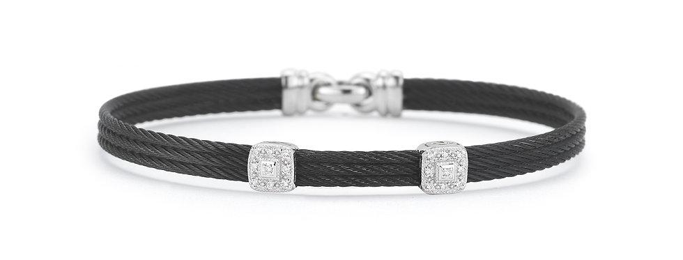 Black Cable Classic Stackable Bracelet Ref. 04-52-0824-11