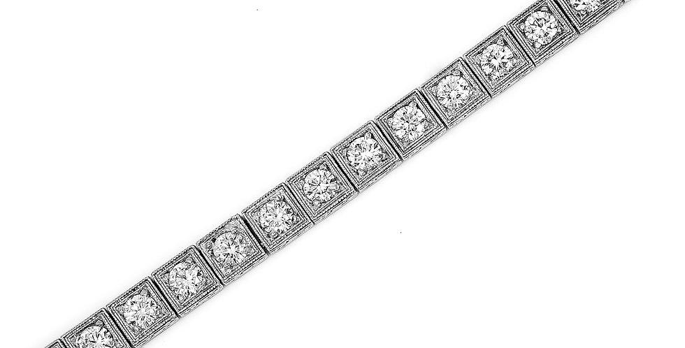 Classic Platinum Diamond Tennis Bracelet