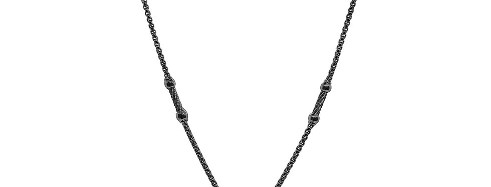 Black Chain Expressions Scattered Necklace Ref. 08-52-1102-11