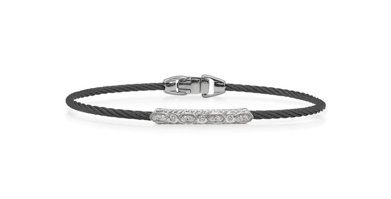 Black Cable Delicate Twist Bracelet Ref. 04-52-1073-11