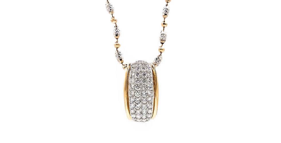 Classic Rose Gold Diamond Bead Necklace