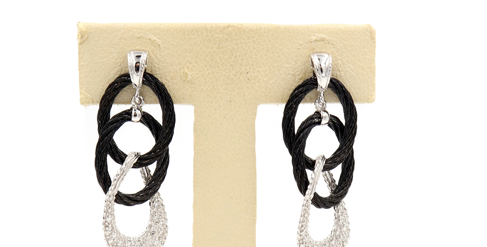 Alor Black Cable Link Earrings Ref. 03-52-3033-11