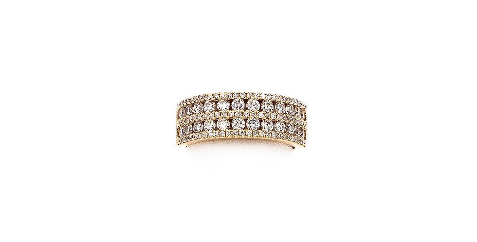 Rose Gold 5 Rows Small/Large Pattern Diamond Ring