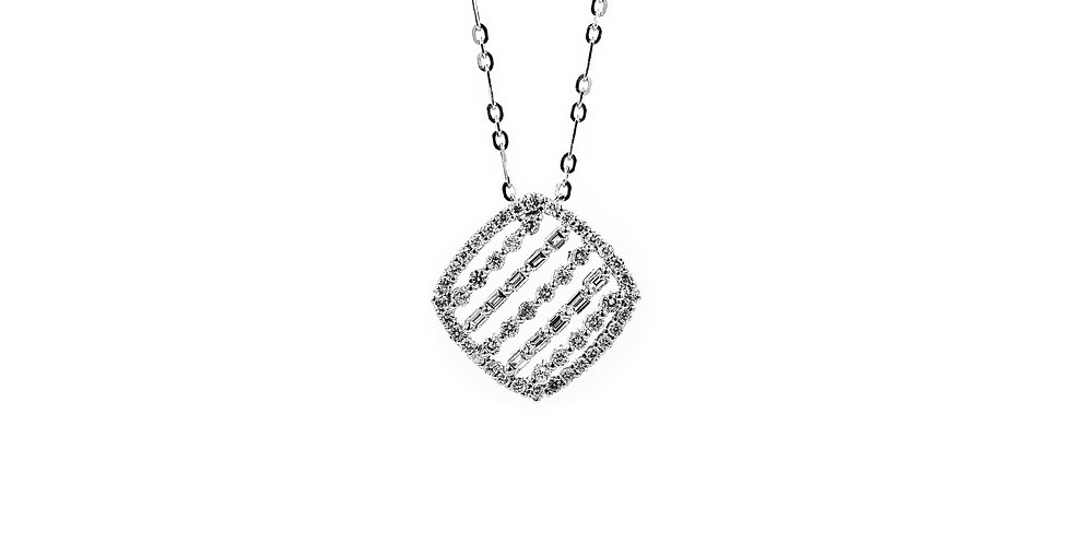 Classic White Gold Diamond Necklace