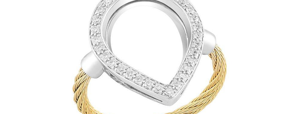 Alor Diamond Teardrop Gold Cable Ring Ref. 02-37-S736-11