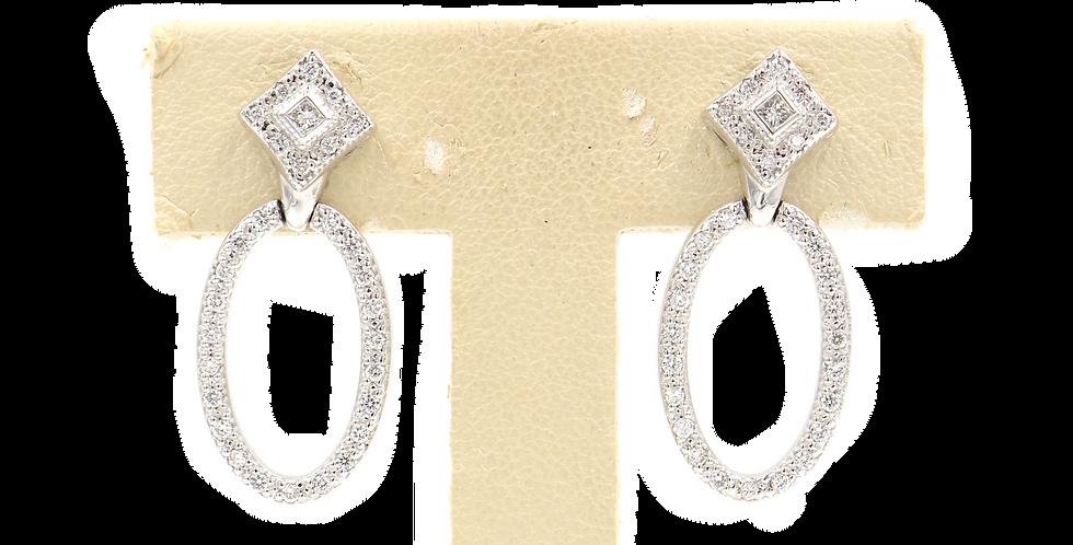 Alor Diamond Oval Earrings Ref. 03-08-9424-11