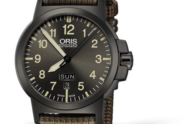 Oris BC3 Advanced Day Date Grey Plated Men's Watch 01 735 7641 4263-07 5 22 22G
