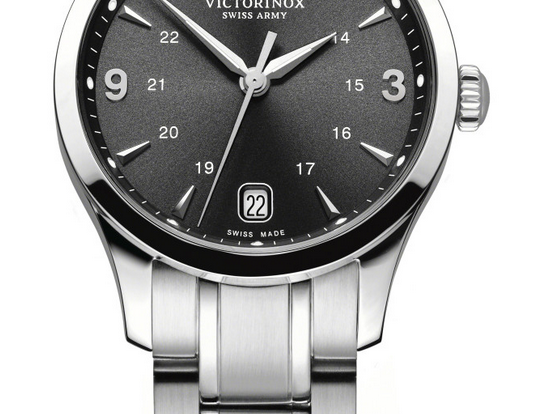 Victorinox Swiss Army Alliance Small Black Stainless Steel Watch 241540