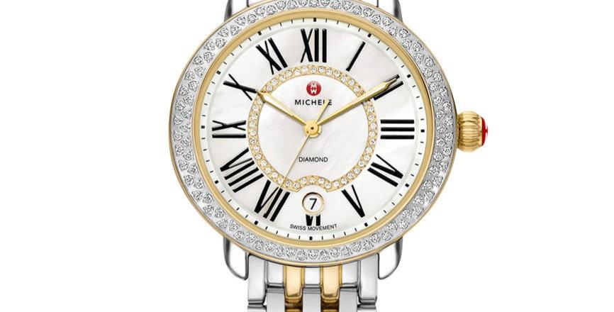 Michele Serein Mid Two-Tone Diamond Watch MWW21B000032