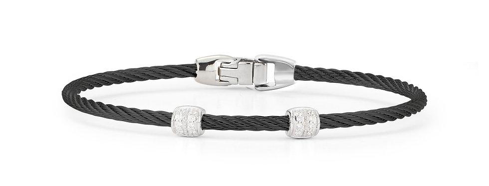 Black Cable Double Station Stackable Bracelet Ref. 04-52-0927-11