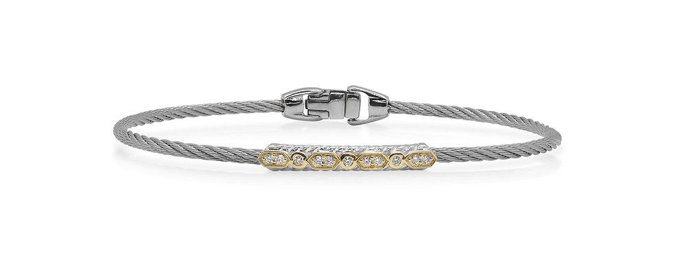 Grey Cable Delicate Twist Bracelet Ref. 04-33-1073-11
