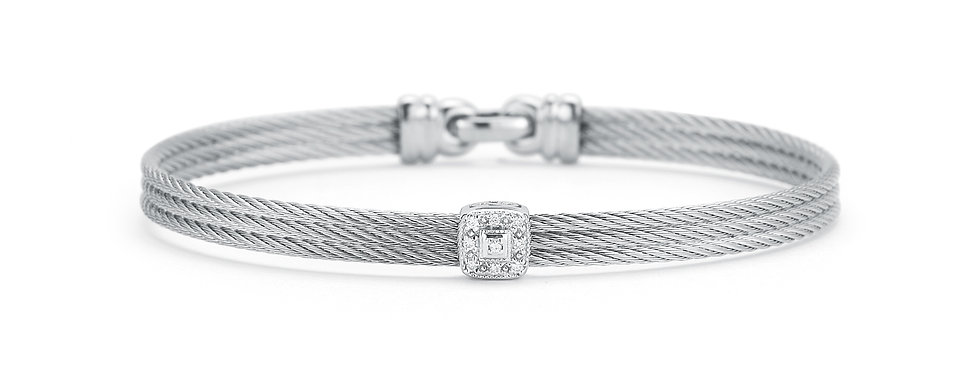 Grey Cable Classic Stackable Bracelet Ref. 04-32-S814-11