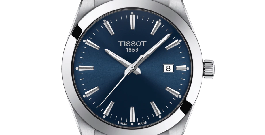TISSOT GENTLEMAN QUARTZ BLUE DIAL STAINLESS STEEL WATCH T127.410.11.041.00