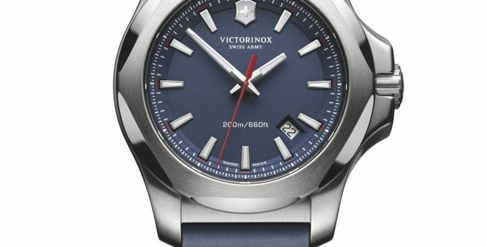 Victorinox Swiss Army INOX Blue Rubber Strap Watch 241688.1
