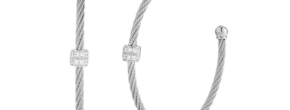 Grey Cable Hoop Earrings Ref. 03-32-S178-11