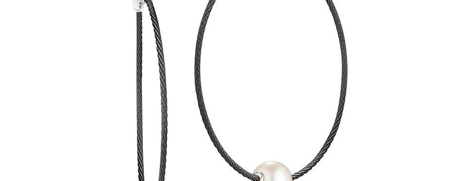 Black Cable Hoop Earrings Ref. 03-52-P102-00