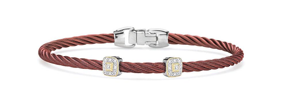 Alor Burgundy Cable Essential Stackable Bracelet Ref. 04-21-S924-11