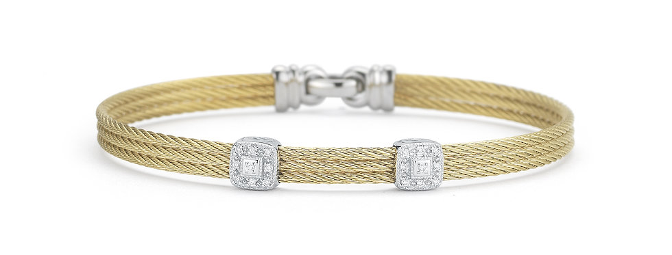 Yellow Cable Classic Stackable Bracelet Ref. 04-37-S824-11
