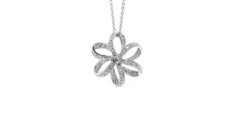 Classic White Gold Diamond Necklace