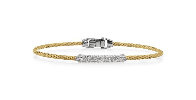 Yellow Cable Delicate Twist Bracelet Ref. 04-37-1073-11