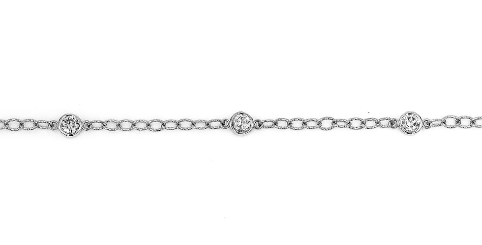 Classic White Gold Diamond Tennis Bracelet