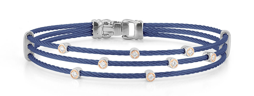 Alor Blueberry Cable Triple Strand Bracelet Ref. 04-24-S386-11