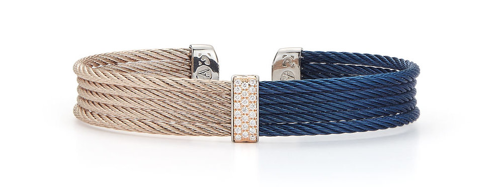 Blueberry & Carnation Cable Mini Cuff Ref.  04-48-S651-11