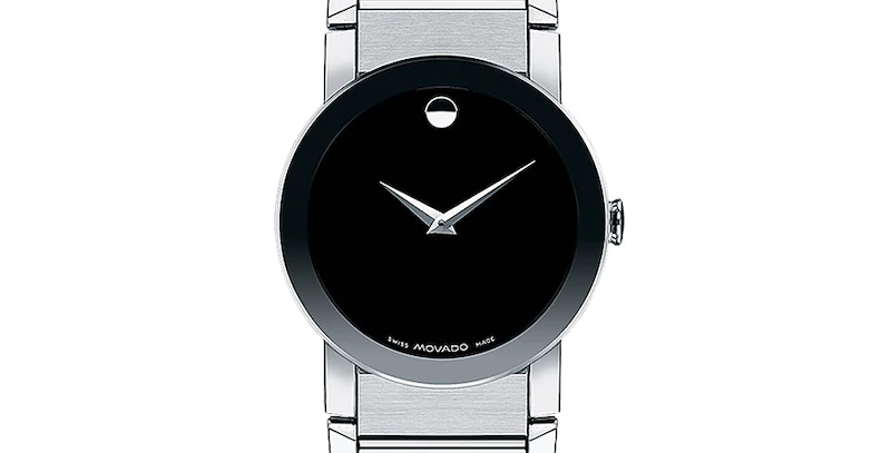 Movado Sapphire Stainless Steel Men's Watch 0606092