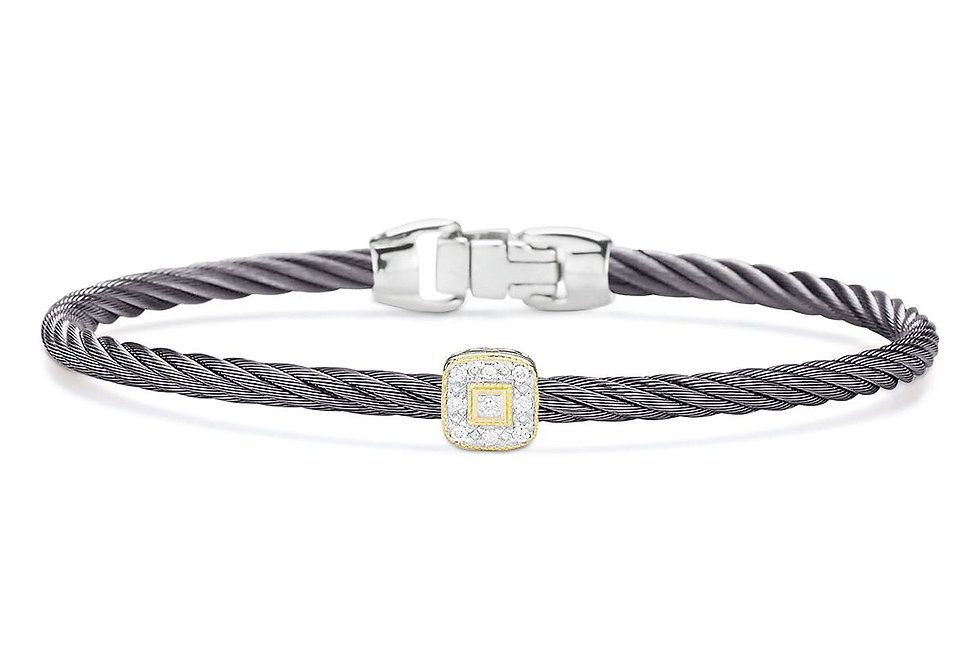 Alor Steel Grey Cable Essential Stackable Bracelet Ref. 04-23-S914-11