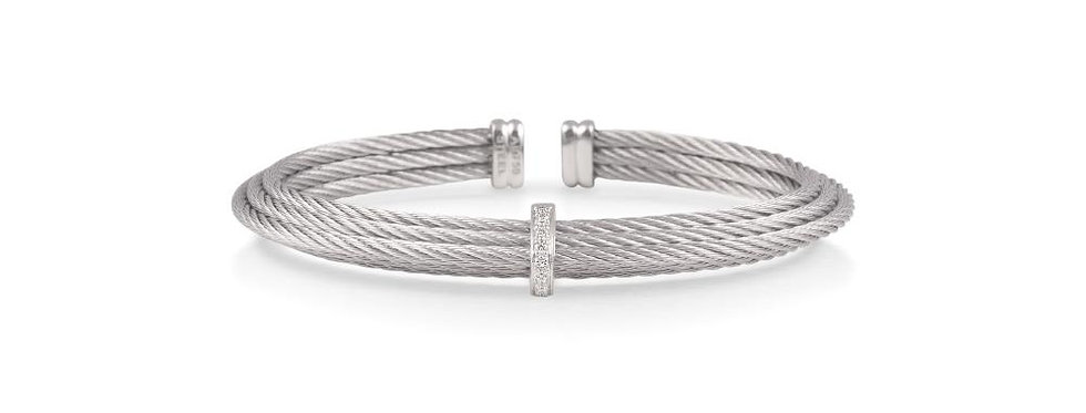 Alor Grey Cable Tiered Stackable Bracelet Ref. 04-32-S415-11
