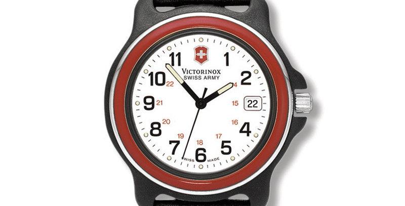 Victorinox Swiss Army Original 2000 RED GMT Nylon Strap Watch 24221