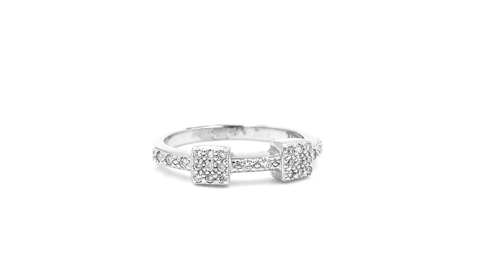 Alor Two Section Diamond Ring