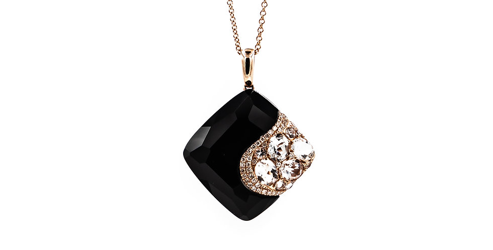 Classic Rose Gold Black Onyx Necklace