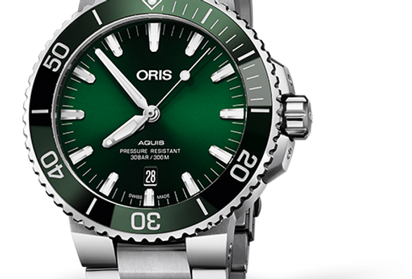 ORIS Aquis Date Green Dial Men's Watch 01 733 7730 4157-07 8 24 05PEB