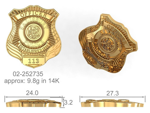 Police Badge Pendant