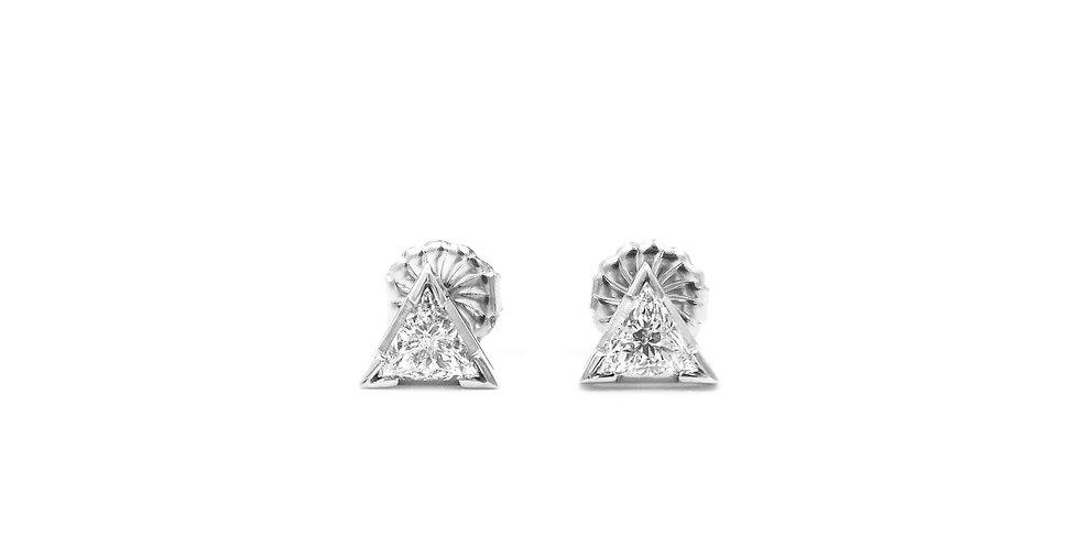 Classic Diamond Triangle Stud