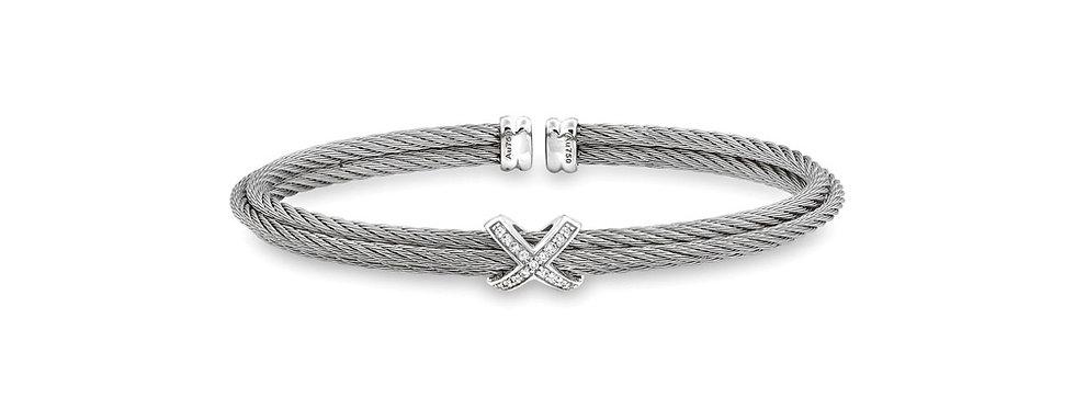 Alor Grey Cable Stackable Bracelet Ref. 04-32-S417-11