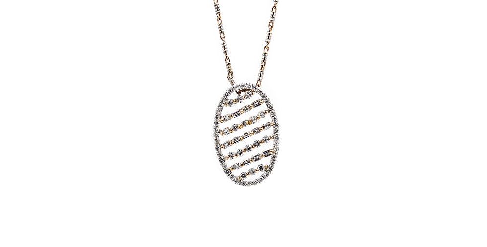 Classic Two Tone Diamond Necklace