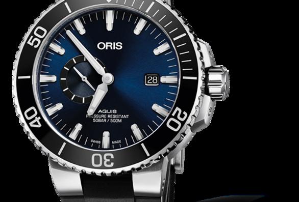 ORIS AQUIS SMALL SECOND, DATE Ref. 01 743 7733 4135-07 4 24 64EB