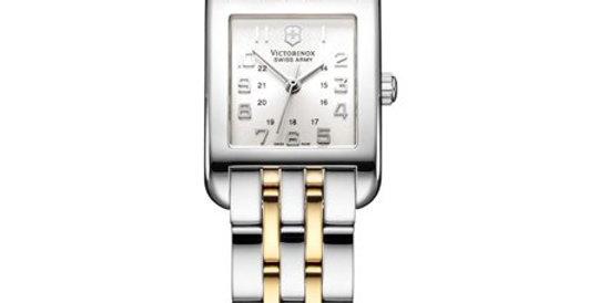 Victorinox Swiss Army Alliance Rectangle Small Two Tone Watch 24168