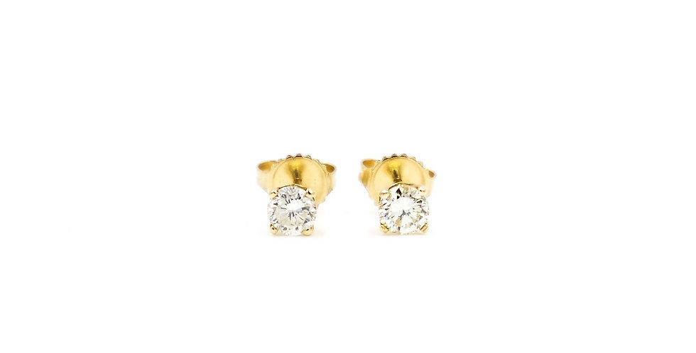 Classic Diamond Prongs Stud With Jacket