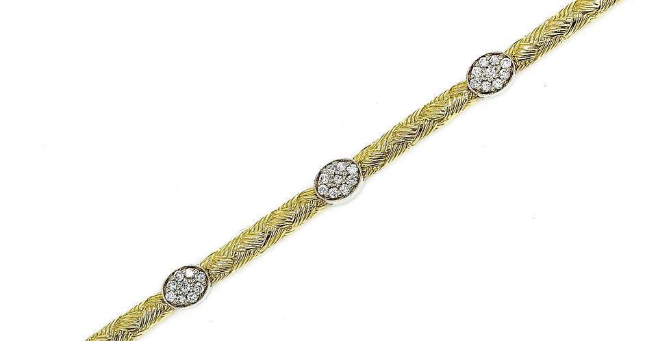 Classic Two Tone Gold Tennis Bracelet