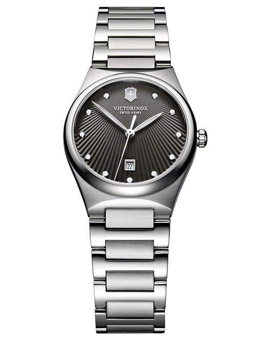 Victorinox Swiss Army Victoria Charcoal Dial Stainless Steel Watch 241512